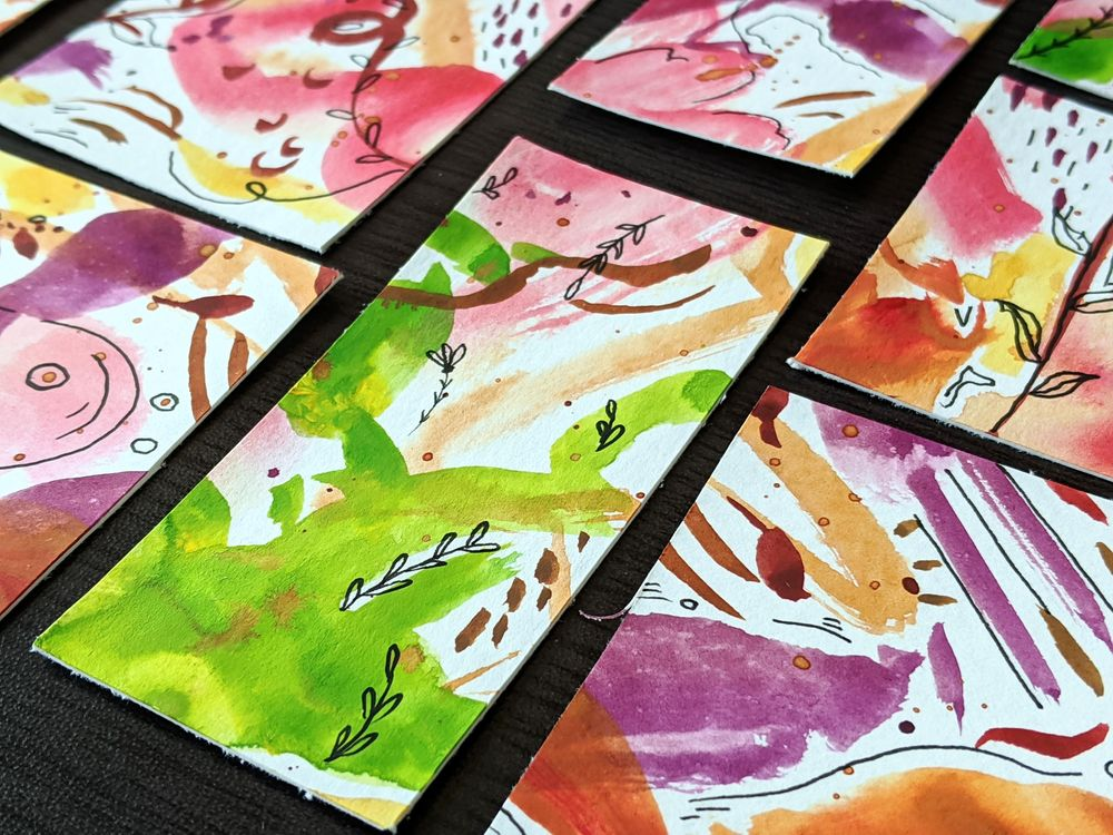 Watercolor Bookmarks - image 5 - student project