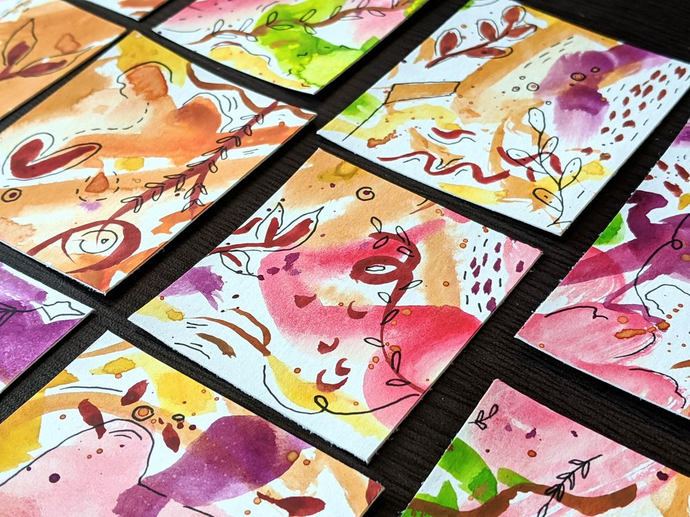 Watercolor Bookmarks - image 4 - student project