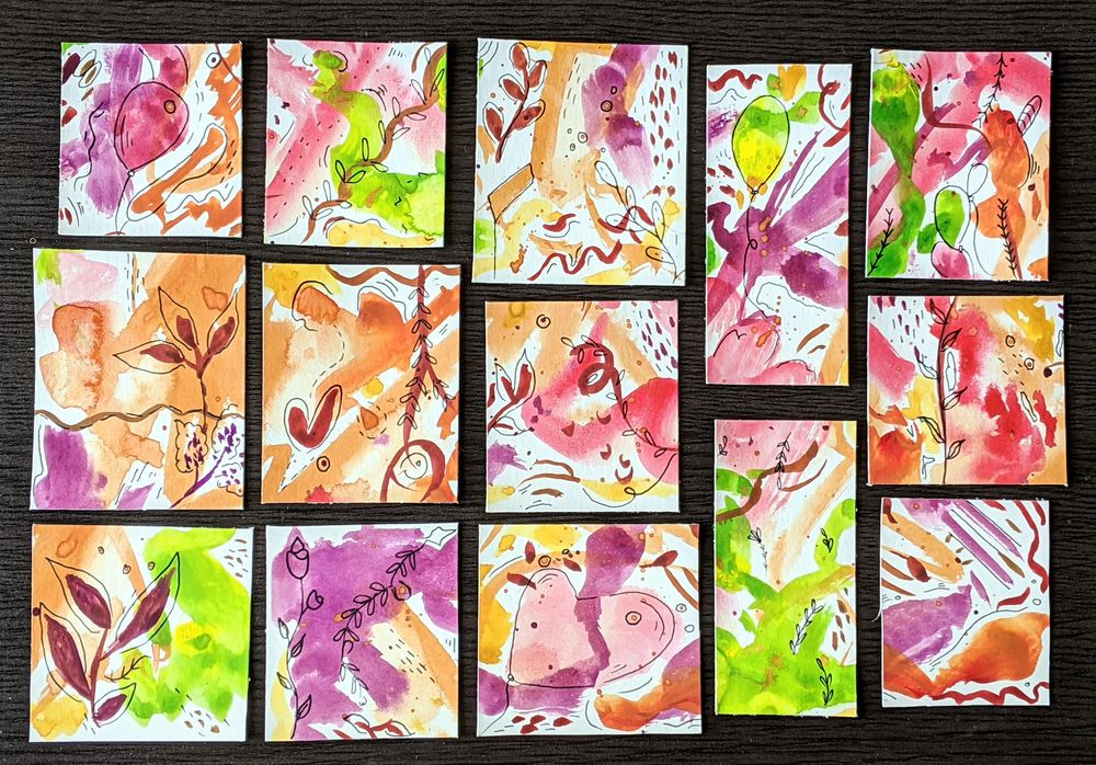 Watercolor Bookmarks - image 1 - student project