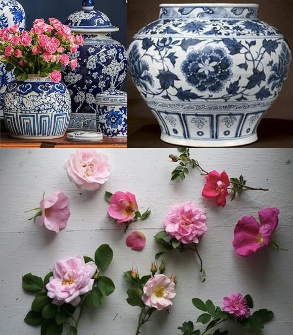 Blue & White Porcelain Roses - image 1 - student project