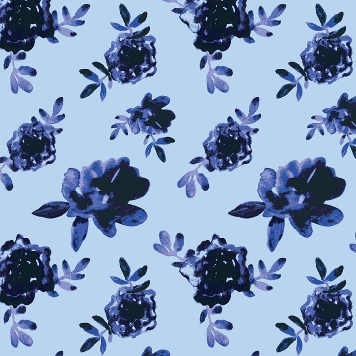 Blue & White Porcelain Roses - image 5 - student project