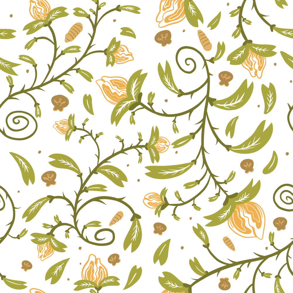 Repeating Flower Pattern Design - image 1 - student project