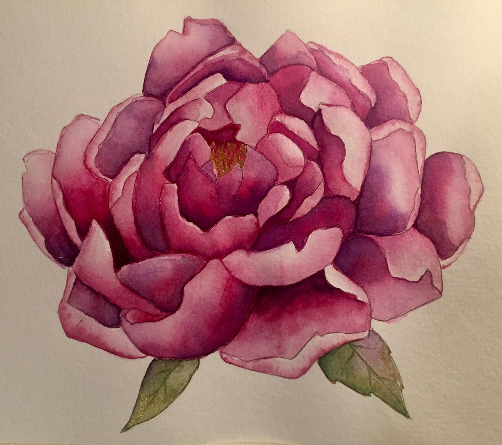 Purple/Magenta Peony for Audrey Ko Class - image 1 - student project