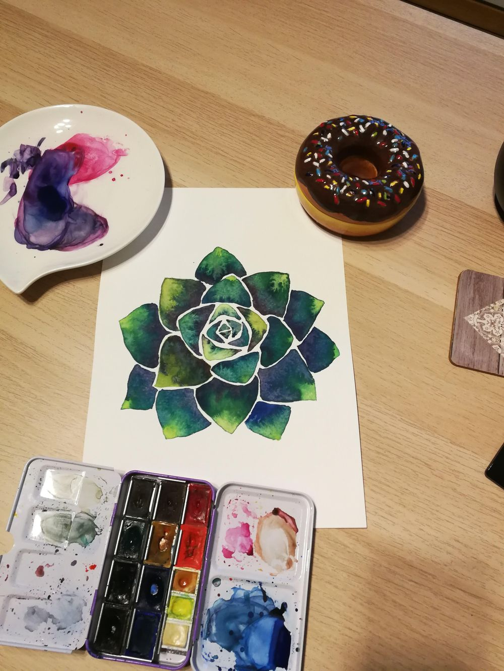 Botanical Watercolors with a Modern Twist - image 3 - student project
