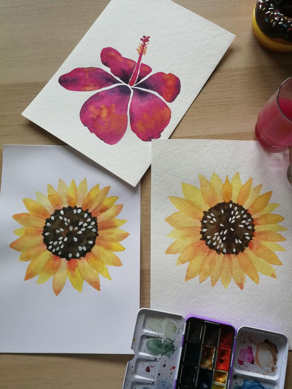 Botanical Watercolors with a Modern Twist - image 2 - student project