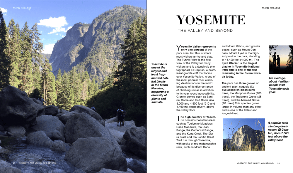 YOSEMITE: The Valley and Beyond - image 4 - student project