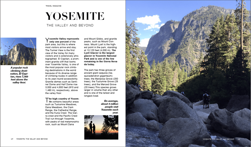 YOSEMITE: The Valley and Beyond - image 2 - student project