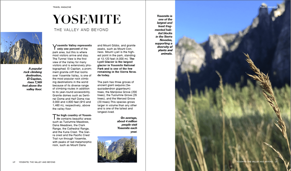 YOSEMITE: The Valley and Beyond - image 1 - student project
