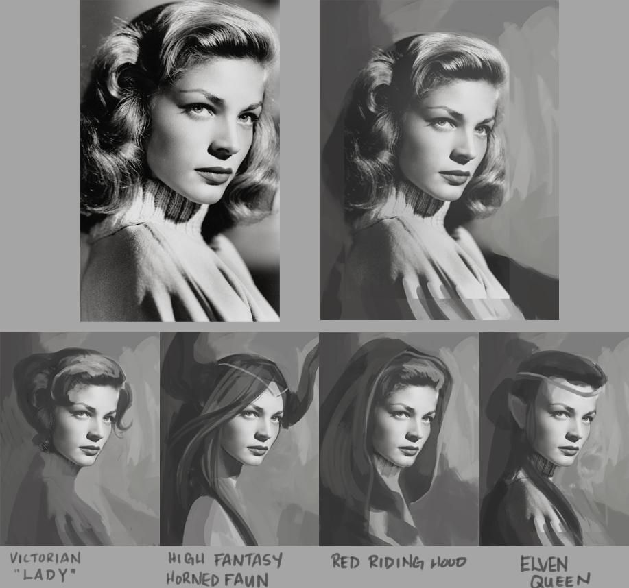 Lauren Bacall Reimagined - image 1 - student project
