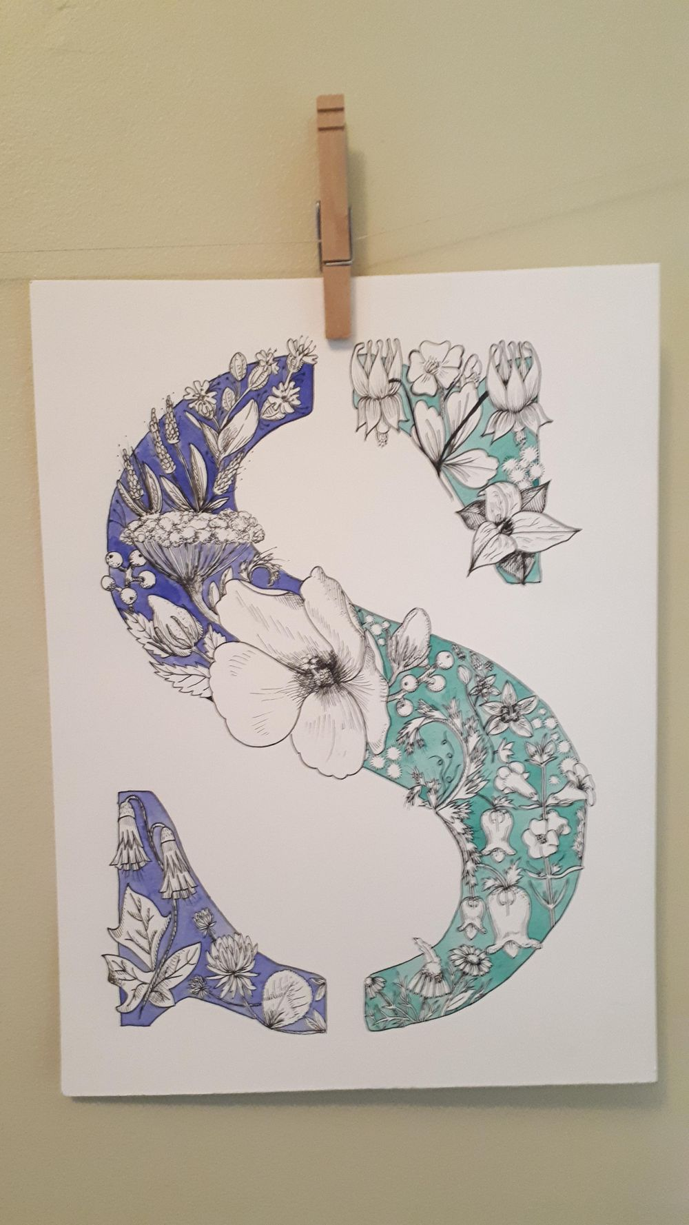 """Letter """"S"""" w/ Native to Ontario Flowers - image 1 - student project"""