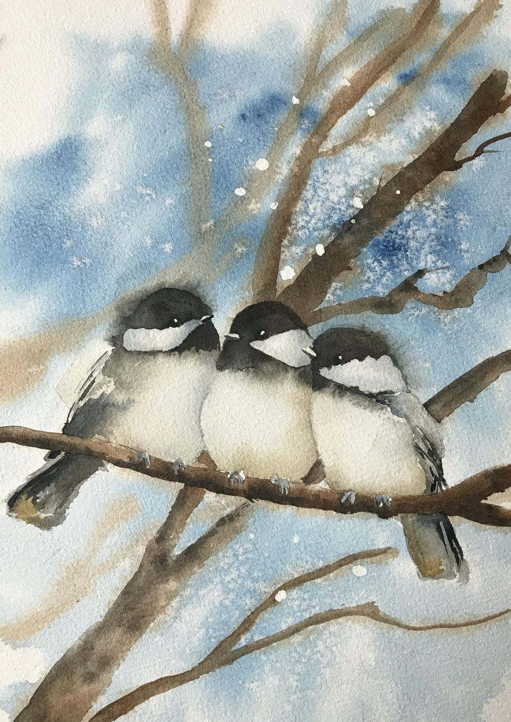 Chickadees on Branches - image 1 - student project