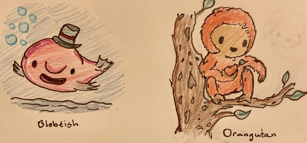 Cute Orangutan & Blobfish - image 1 - student project