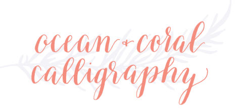 Ocean & Coral Calligraphy - image 3 - student project