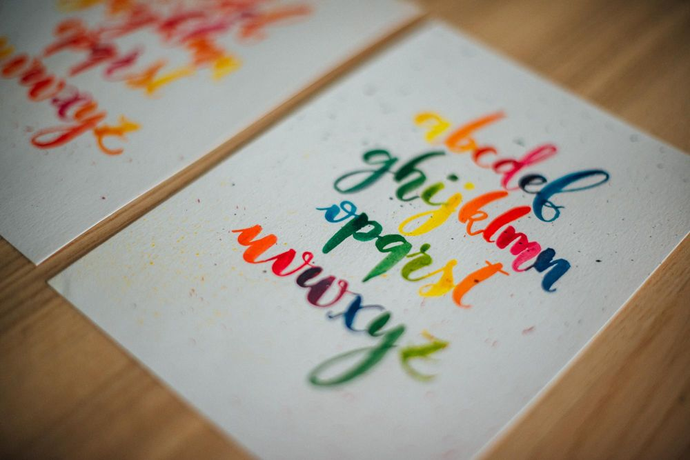 Watercolor lettering - first attempts - image 2 - student project