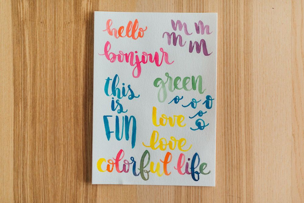 Watercolor lettering - first attempts - image 4 - student project