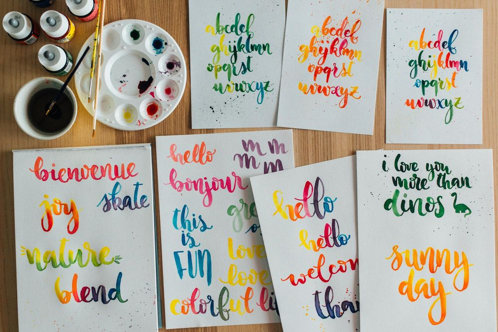 Watercolor lettering - first attempts - image 9 - student project