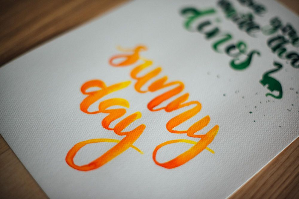 Watercolor lettering - first attempts - image 8 - student project