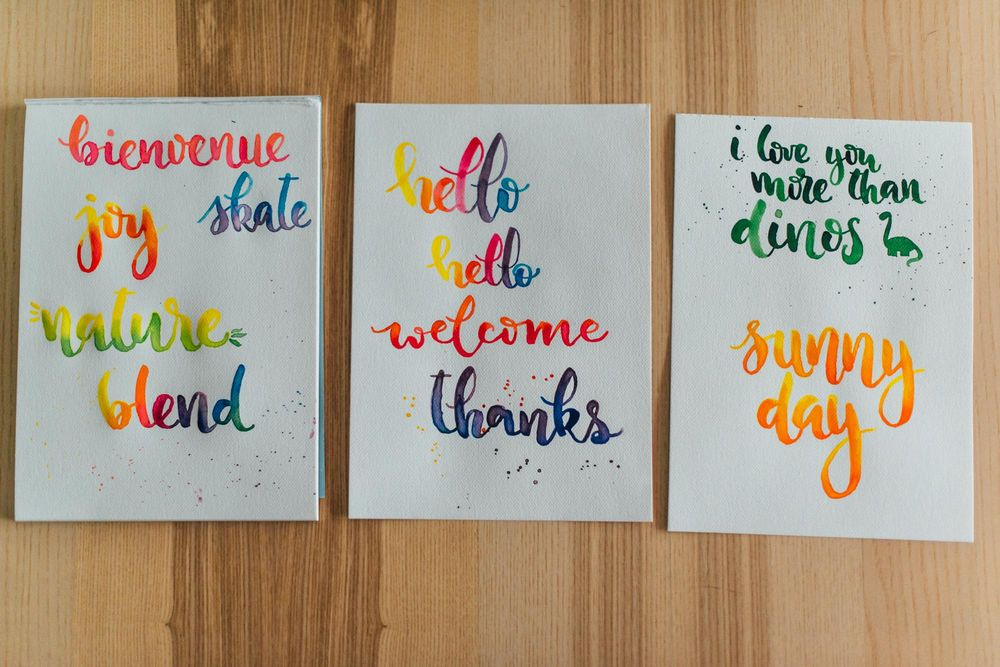 Watercolor lettering - first attempts - image 6 - student project