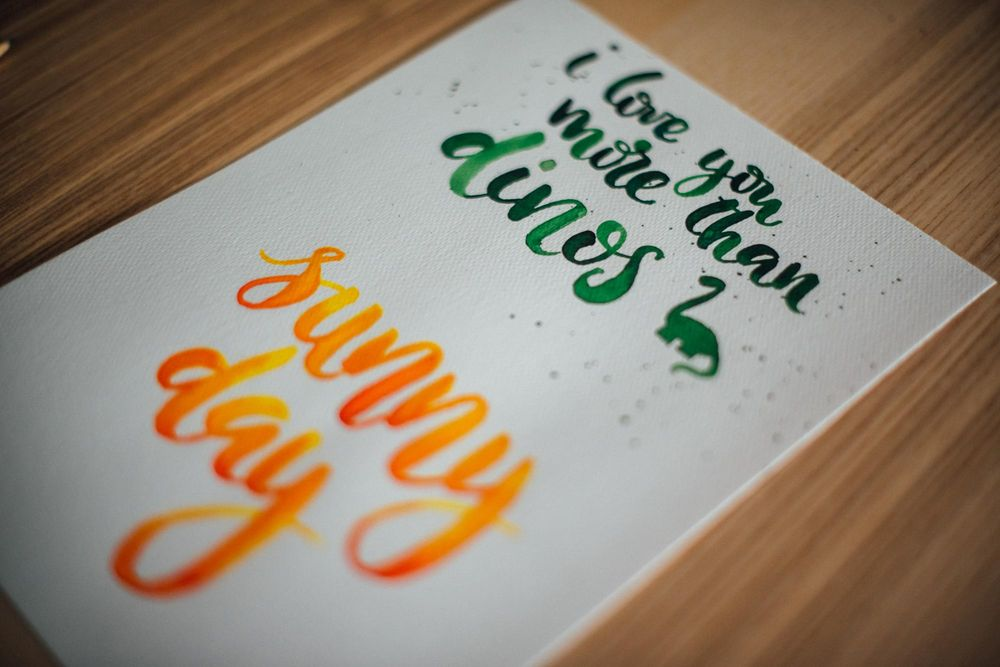 Watercolor lettering - first attempts - image 7 - student project