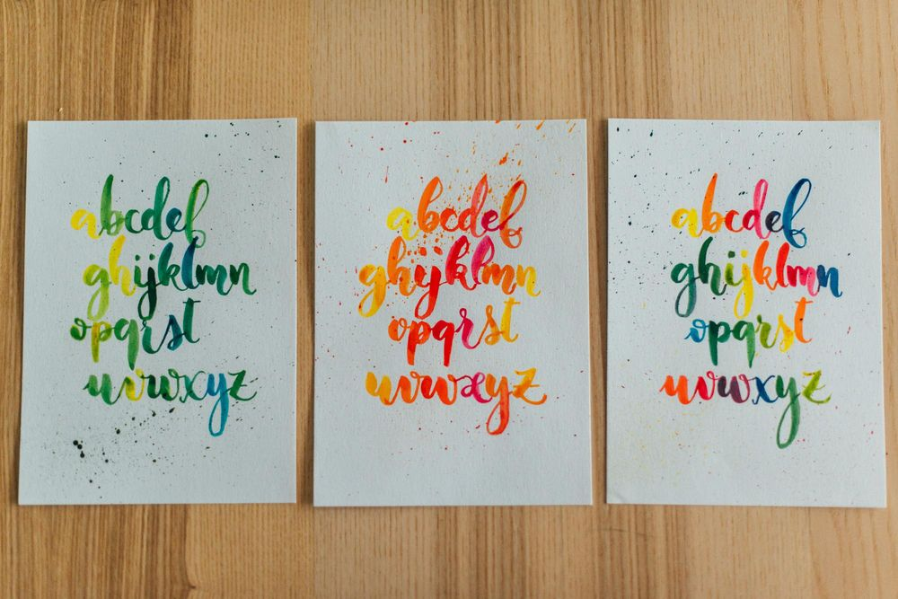 Watercolor lettering - first attempts - image 1 - student project