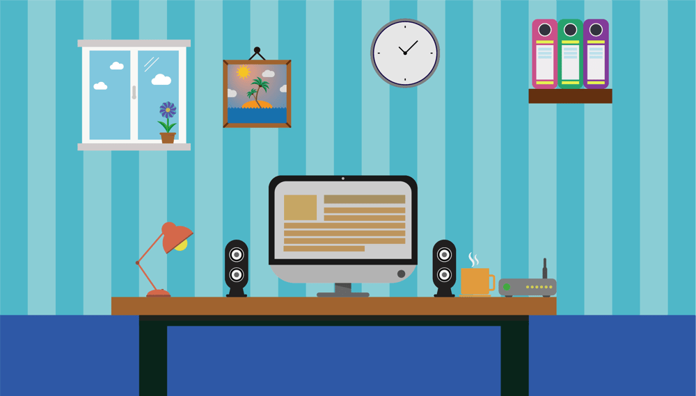 Flat office - image 1 - student project
