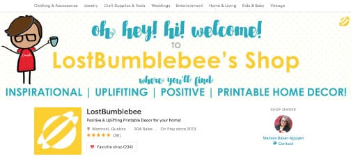 LostBumblebee on Etsy  - image 1 - student project