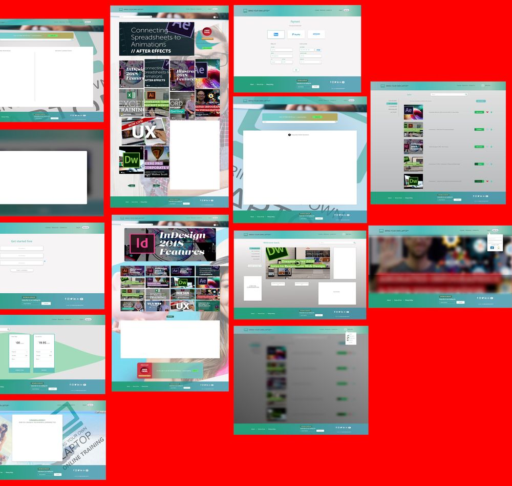 Bring your own laptop online training website - image 2 - student project