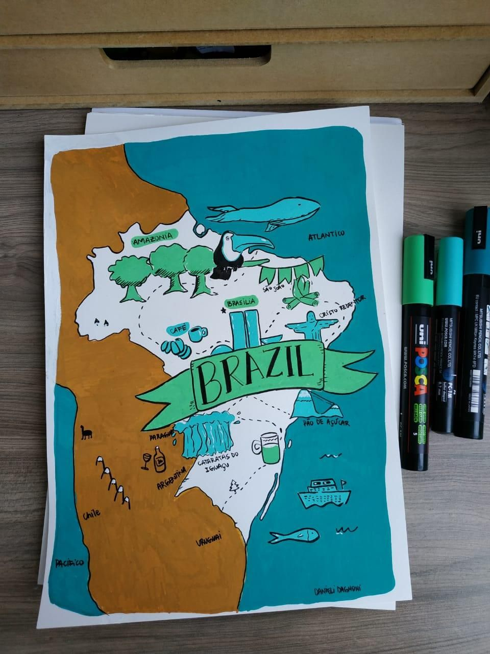 Brazil map - image 3 - student project