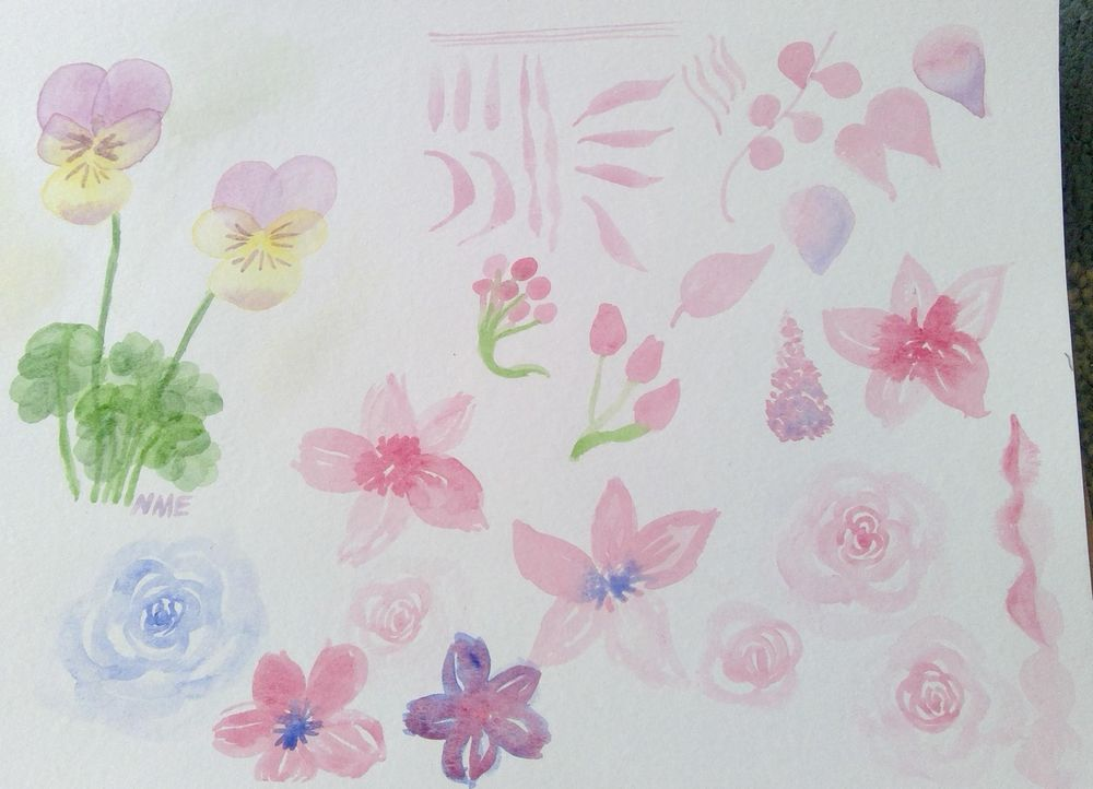 watercolors in bloom - image 1 - student project
