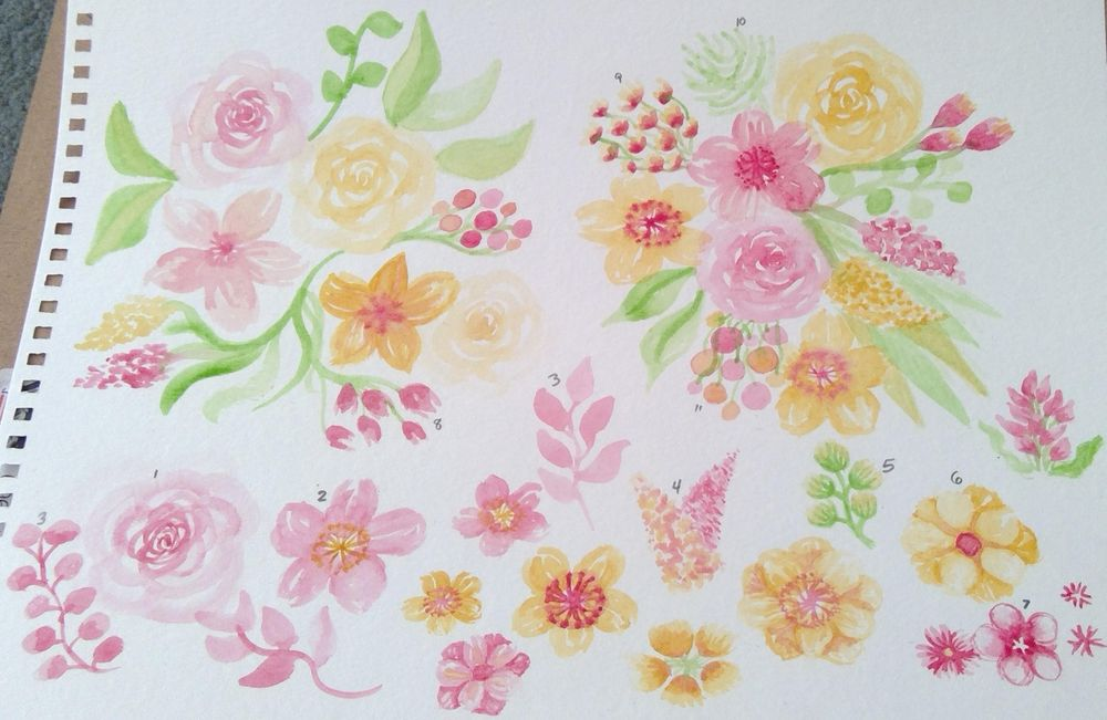 watercolors in bloom - image 2 - student project