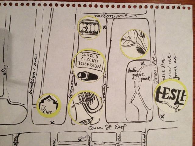 Leslieville Curiosities - a treasure map of hidden neighbourhood gems    - image 7 - student project