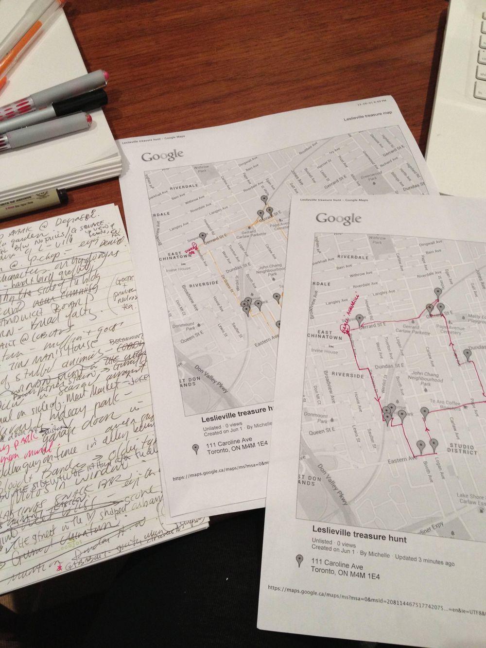 Leslieville Curiosities - a treasure map of hidden neighbourhood gems    - image 2 - student project
