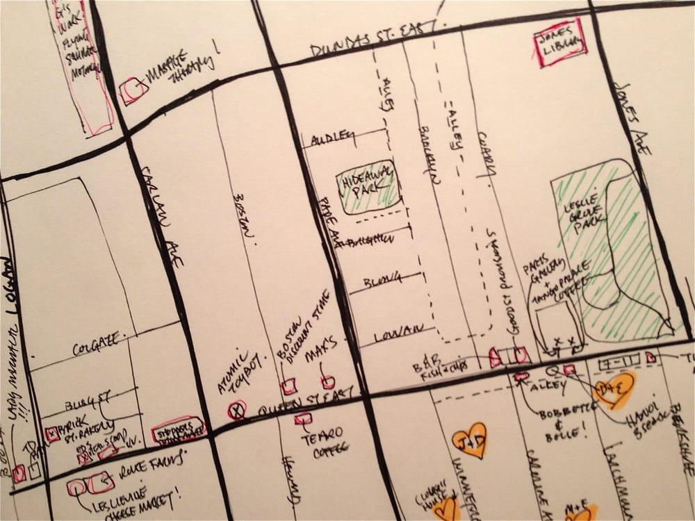 Leslieville Curiosities - a treasure map of hidden neighbourhood gems    - image 3 - student project