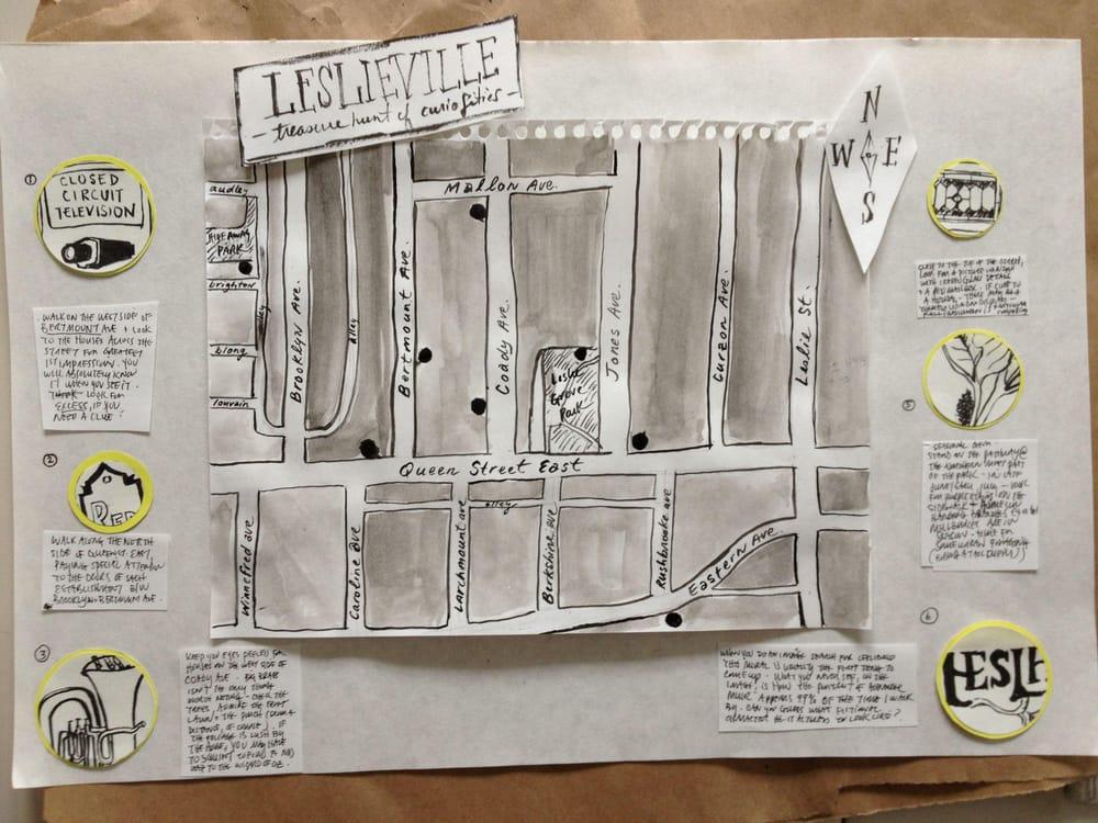 Leslieville Curiosities - a treasure map of hidden neighbourhood gems    - image 11 - student project