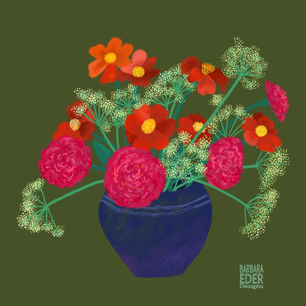 A vase with flowers - image 1 - student project