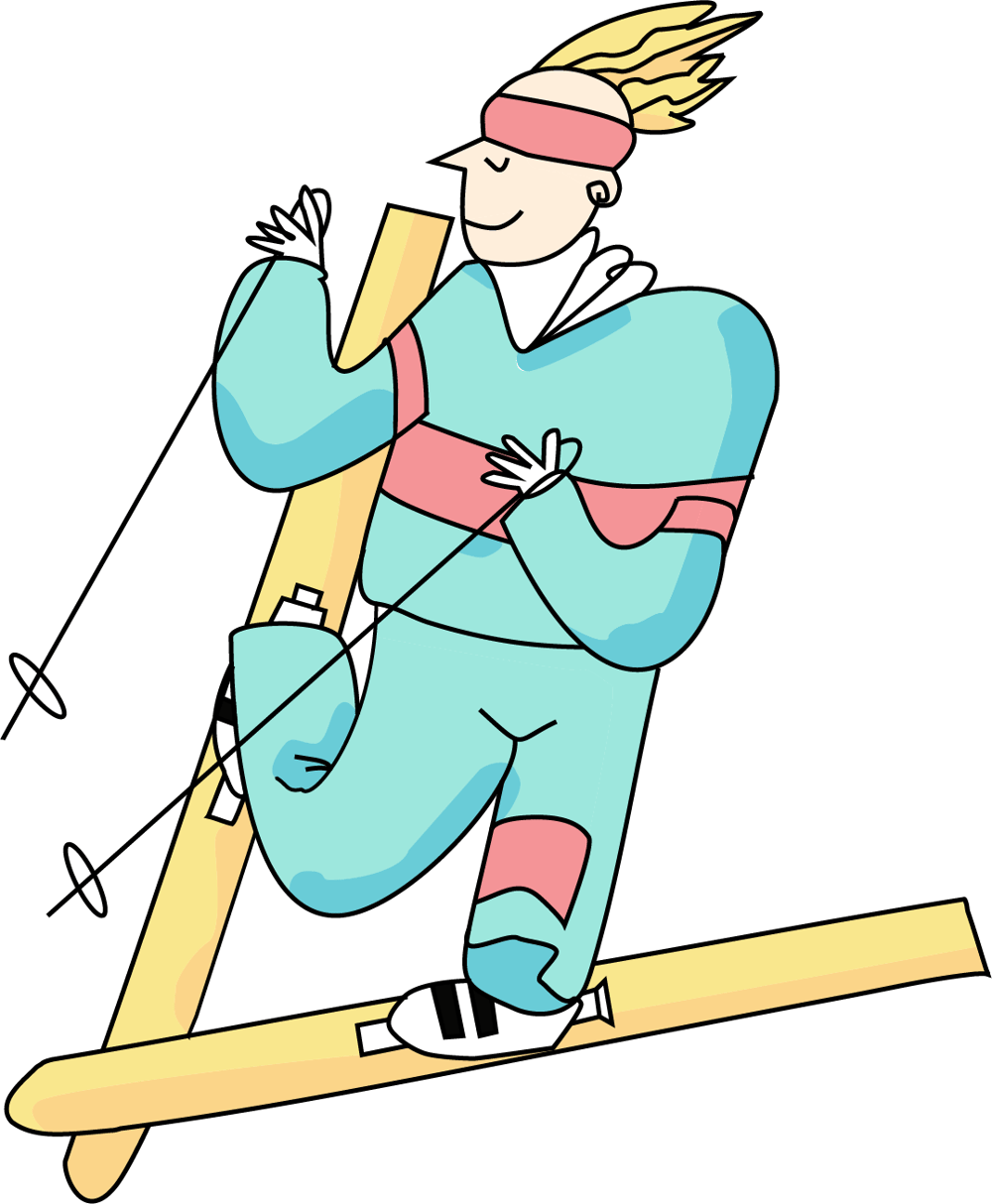 My take on the skier - image 1 - student project