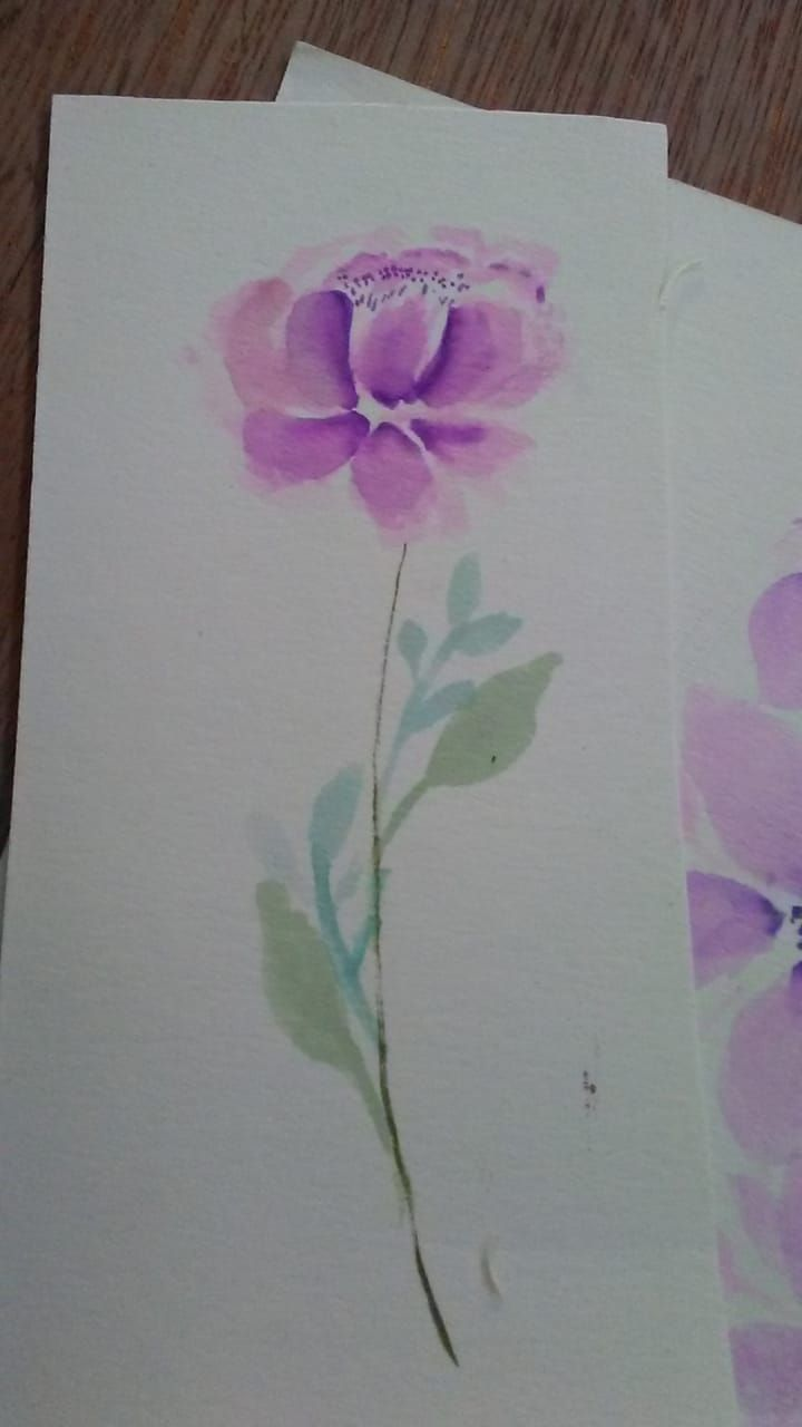 Loose florals watercolor with Supertips - image 1 - student project