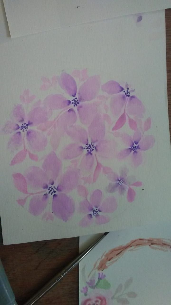 Loose florals watercolor with Supertips - image 3 - student project
