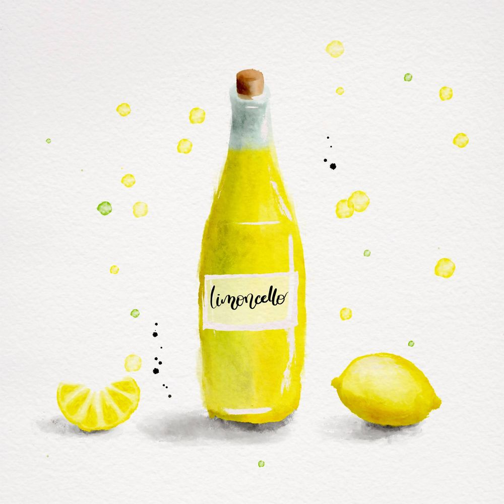 Watercolor Limoncello - image 1 - student project