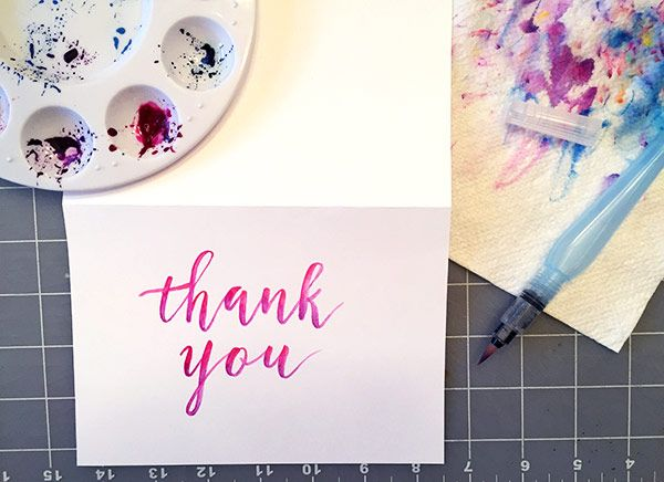 Sample Project: Thank You Card - image 5 - student project