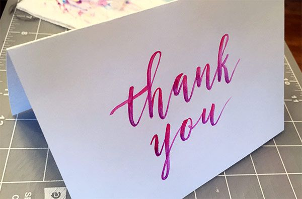 Sample Project: Thank You Card - image 6 - student project