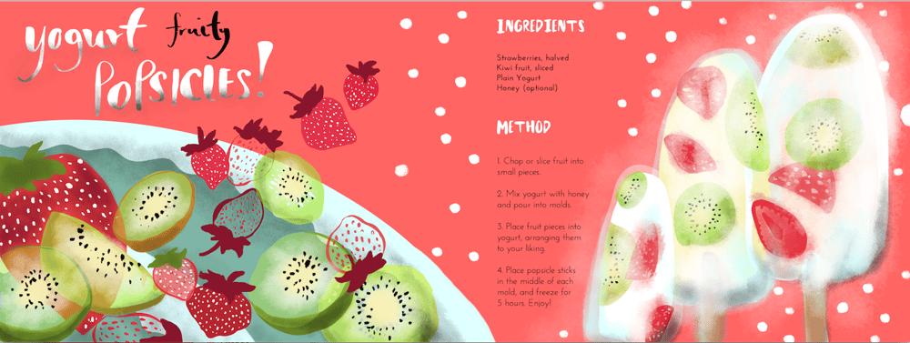Yogurt fruity popsicles! - image 7 - student project