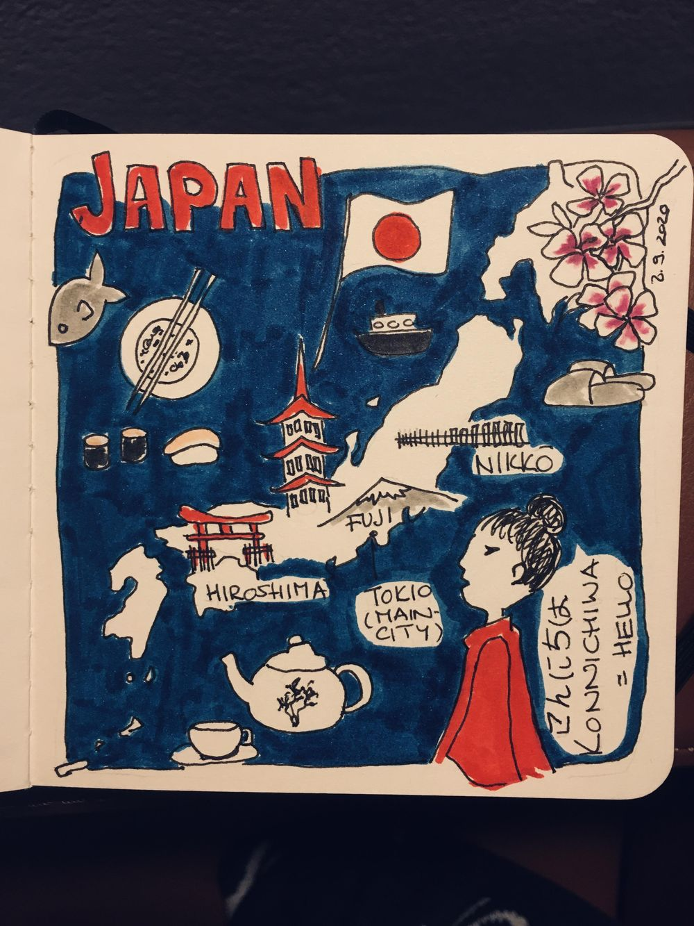 Quick sketch of Japan - image 1 - student project