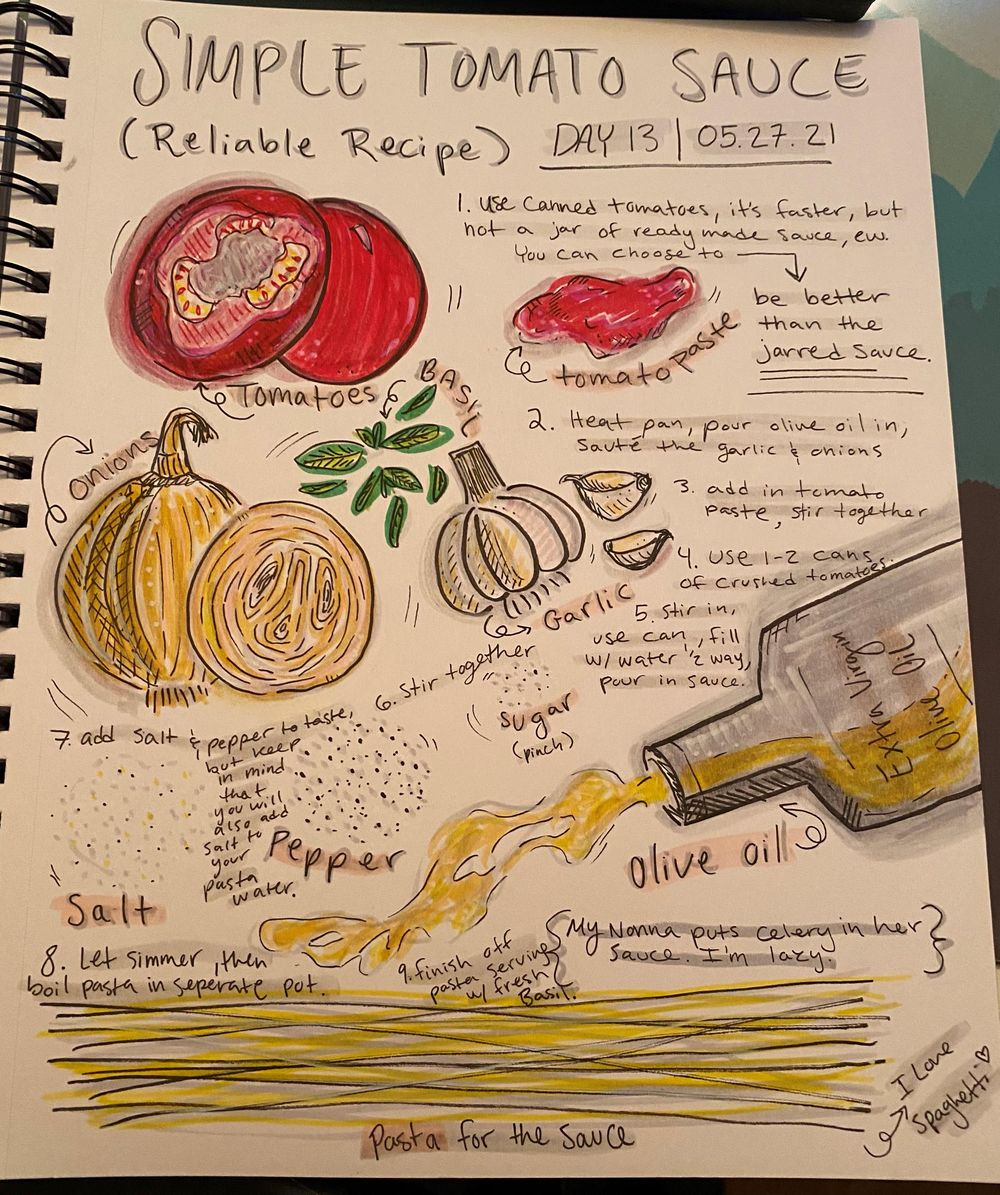 14 Days of Illustrated Journaling - image 2 - student project