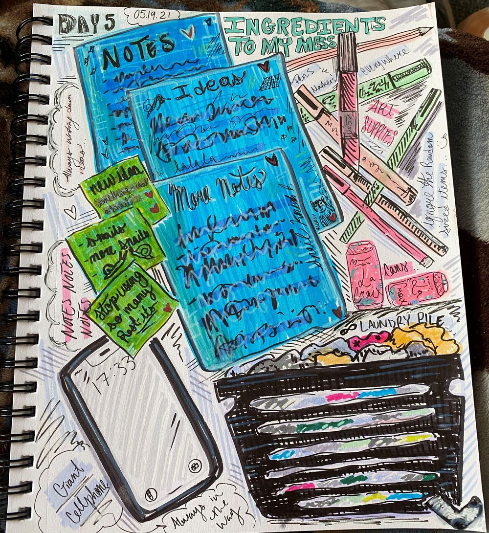 14 Days of Illustrated Journaling - image 10 - student project