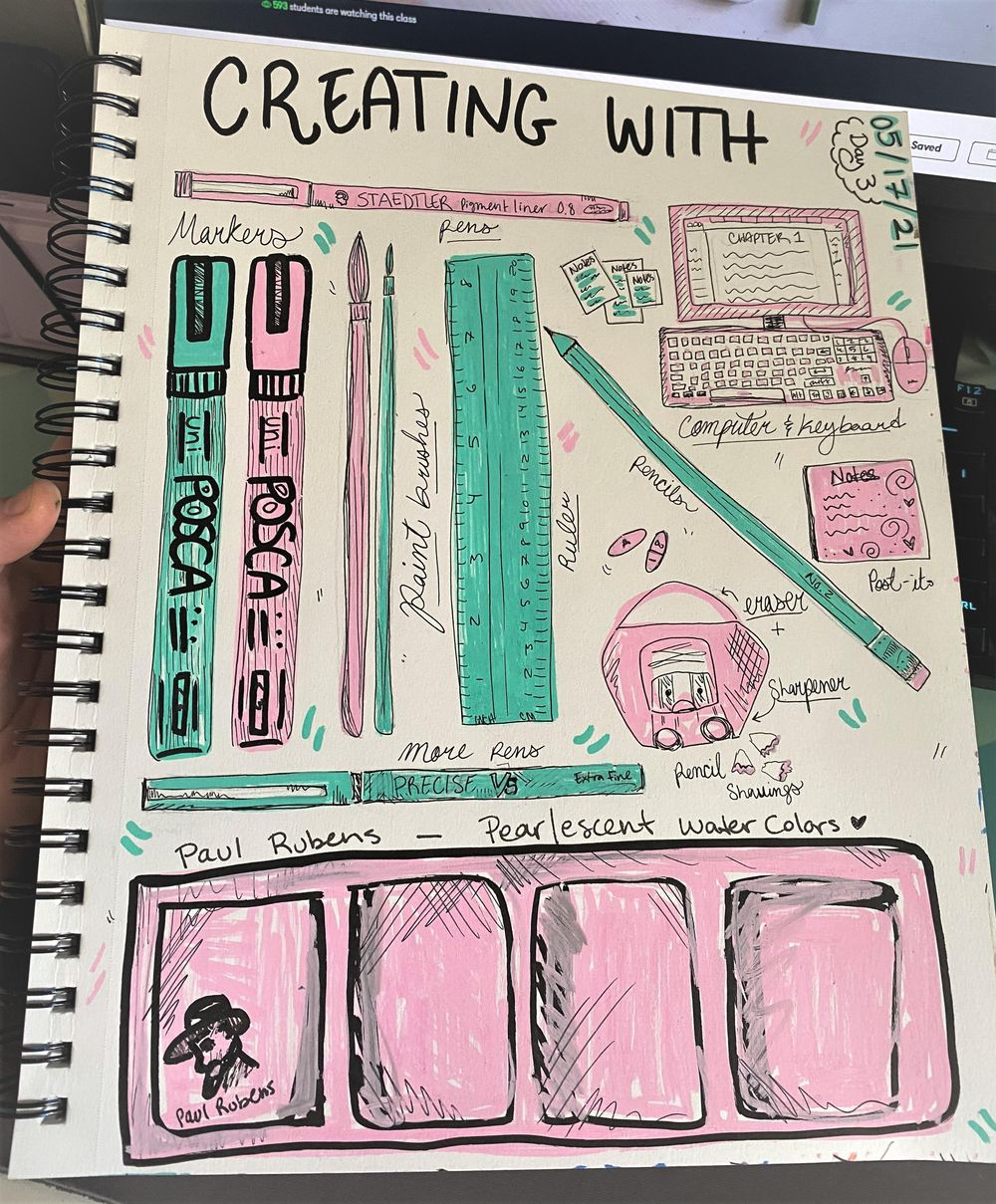 14 Days of Illustrated Journaling - image 12 - student project