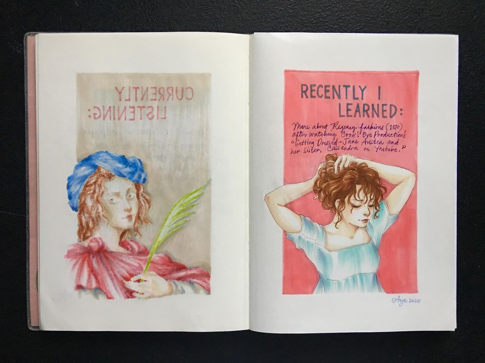 Illustrated Journaling: 14 Days of Prompts - image 2 - student project