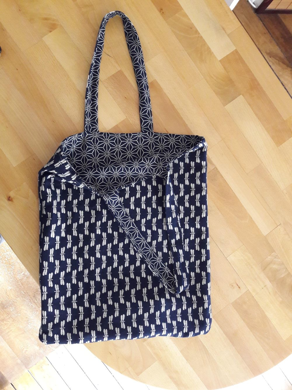Tote Bag in Japanese Fabric - image 1 - student project