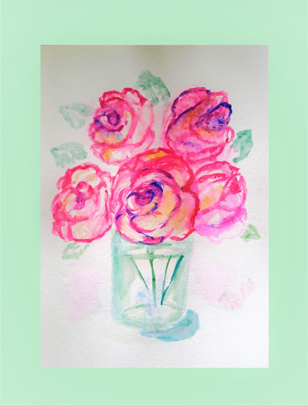 Whimsical Watercolor Florals - image 1 - student project