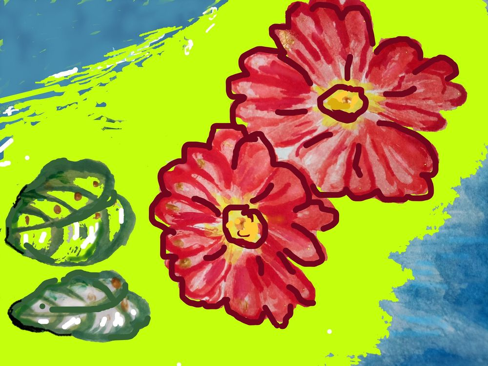 Red Flowers On A Path To The Sky - image 2 - student project